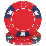 Roll of 25 - Crown & Dice 3 Tone 14 gram - Red
