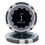 Roll of 25 - Eclipse 14 Gram Poker Chips - $1