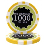 Roll of 25 - Eclipse 14 Gram Poker Chips - $1,000