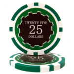 Roll of 25 - Eclipse 14 Gram Poker Chips - $25