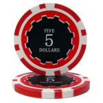 Roll of 25 - Eclipse 14 Gram Poker Chips - $5