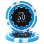 Roll of 25 - Eclipse 14 Gram Poker Chips - $50