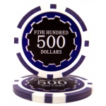 Roll of 25 - Eclipse 14 Gram Poker Chips - $500