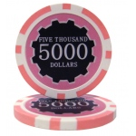 Roll of 25 - Eclipse 14 Gram Poker Chips - $5,000