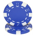 Roll of 25 - Striped Dice 11.5 gram - Blue