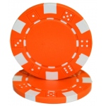 Roll of 25 - Striped Dice 11.5 gram - Orange