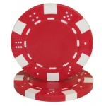 Roll of 25 - Striped Dice 11.5 gram - Red