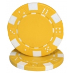 Roll of 25 - Striped Dice 11.5 gram - Yellow