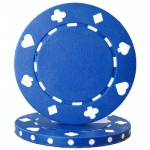 Roll of 25 - Blue 7.5 Gram Suited Poker Chip
