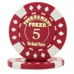 Roll of 25 - Red - Tournament Hot Stamp Poker Chips 12.5g