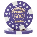 Roll of 25 - Purple - Tournament Hot Stamp Poker Chips 12.5g