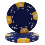 Blue - Ace King Suited 14 Gram Poker Chips