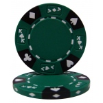 Green - Ace King Suited 14 Gram Poker Chips