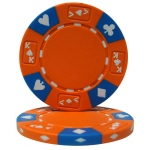 Orange - Ace King Suited 14 Gram Poker Chips