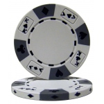 White - Ace King Suited 14 Gram Poker Chips