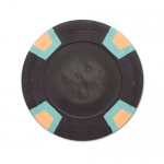 Black Blank Claysmith Double Trapezoid Poker Chip - 10g