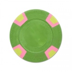 Green Blank Claysmith Double Trapezoid Poker Chip - 10g