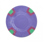 Purple Blank Claysmith Double Trapezoid Poker Chip - 10g