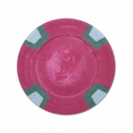 Red Blank Claysmith Double Trapezoid Poker Chip - 10g