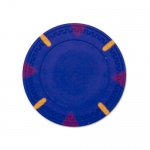 Blue Blank Claysmith Triangle and Stick Poker Chip - 13.5g