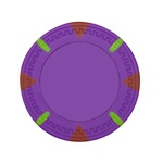 Purple Blank Claysmith Triangle and Stick Poker Chip - 13.5g