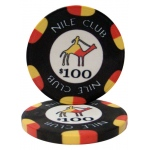 $100 Nile Club 10 Gram Ceramic Poker Chip