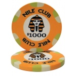 $1000 Nile Club 10 Gram Ceramic Poker Chip