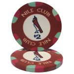 $2 Nile Club 10 Gram Ceramic Poker Chip