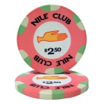 $2.50 Nile Club 10 Gram Ceramic Poker Chip
