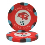 $5 Nile Club 10 Gram Ceramic Poker Chip