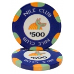 $500 Nile Club 10 Gram Ceramic Poker Chip