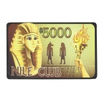 $5000 Nile Club 40 Gram Ceramic Poker Plaque
