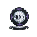 $100 Scroll 10 Gram Ceramic Poker Chip