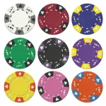 Ace King Suited 14 Gram Poker Chip Sample - 9 Chips