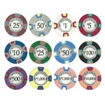 Milano 10 Gram Clay Poker Chip Sample Pack - 12 Chips