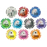 Yin Yang Poker Chip Sample Pack - 10 chips