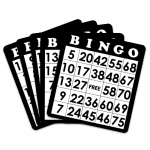 18 Pack of Black Bingo Cards