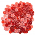 300 Pack Red Magnetic Bingo Chips