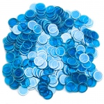 300 Pack Blue Magnetic Bingo Chips