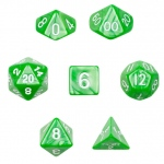 7 Die Polyhedral Dice Set in Velvet Pouch - Imperial Gem