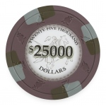 Poker Knights 13.5 Gram, $25,000, Roll of 25