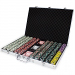 1000ct Claysmith Gaming Monaco Club Chip Set in Aluminum