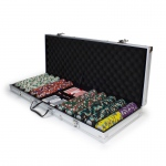 500ct Claysmith Gaming Monaco Club Chip Set in Aluminum