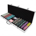 600ct Claysmith Gaming Monaco Club Chip Set in Aluminum