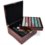 750ct Claysmith Gaming Poker Knights Chip Set in Mahogany