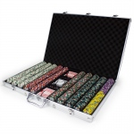 1000ct Claysmith Gaming Showdown Chip Set in Aluminum
