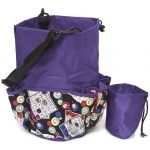 Casino Supply 10 Pocket Bingo Card Designer Bag with Coin Purse: Purple