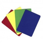 Casino Supply Plastic Flexible Cut Cards: Yellow, Poker - Wide, Pack of 10