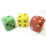 Casino Supply Imperfect Jumbo Acrylic: Yellow, Solid Dice Each, 1.5 Inch