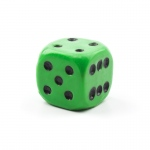 Casino Supply Jumbo Acrylic 1.5 Inch Solid Dice: Green